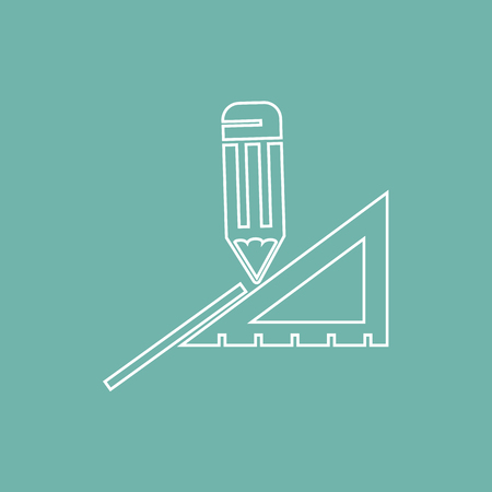 rule: Pencil and rule icon