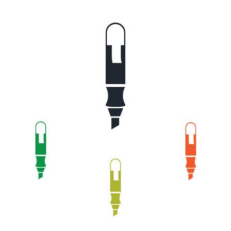 rotulador: icono del marcador