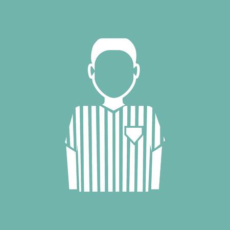 arbitro: �rbitro icono del f�tbol Vectores