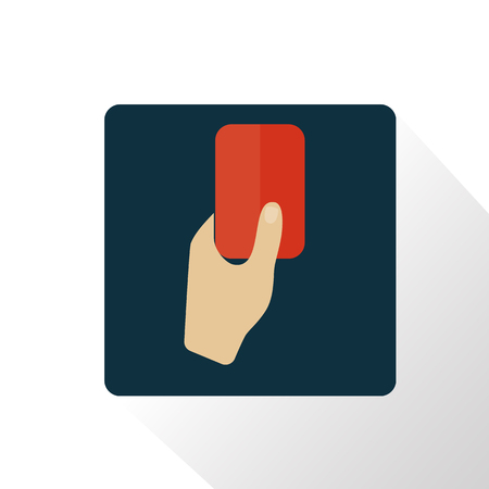 judge players: Illustration of red card icon