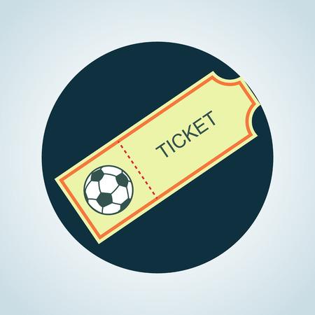 soccer field: Color football ticket icon Illustration