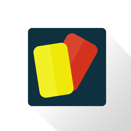 judge players: red and yellow football cards icon