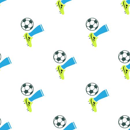 Color illustration of football kick