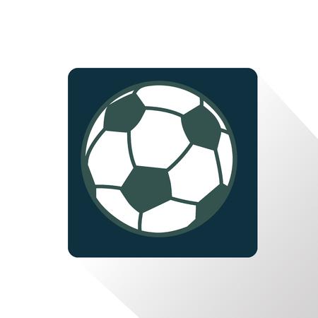 Color illustration of football ball