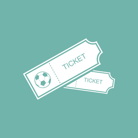 soccer pass: Football tickets icon