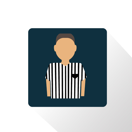 referee: Color football referee icon Illustration