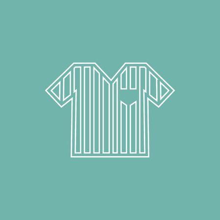 arbitro: icono de la camisa del árbitro