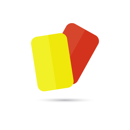 penalty card: red and yellow football cards icon