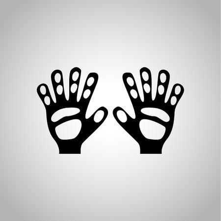 goalie: Goalie gloves icon