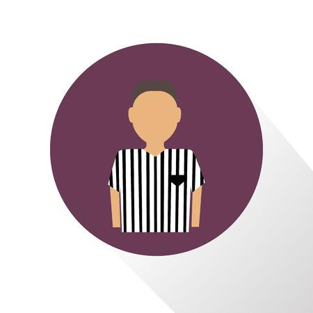 football referee: Color football referee icon Illustration