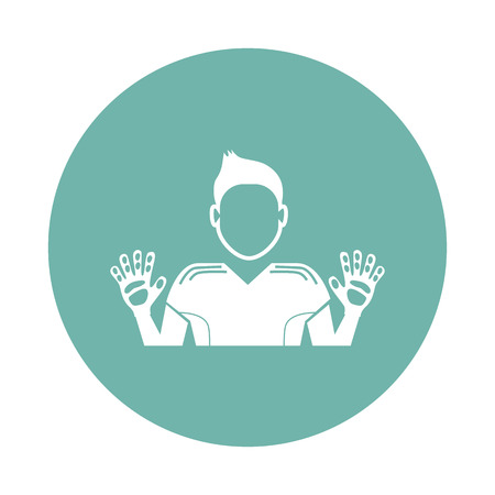 arquero: icono portero Vectores