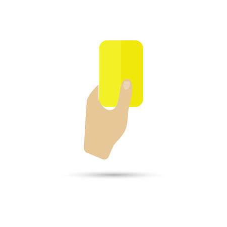 yellow card: Illustration of yellow card icon Illustration