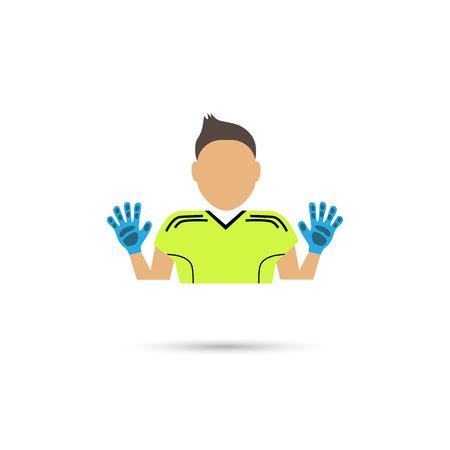 arquero de futbol: Color del icono portero de fútbol