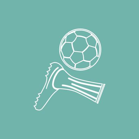 Football hit icon