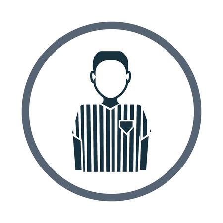 arbitro: árbitro icono del fútbol Vectores