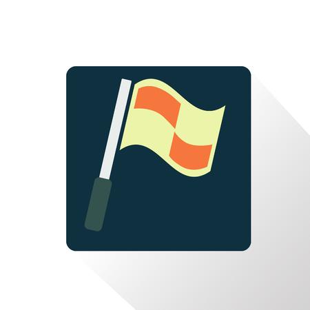 football referee: Color football referee flag icon