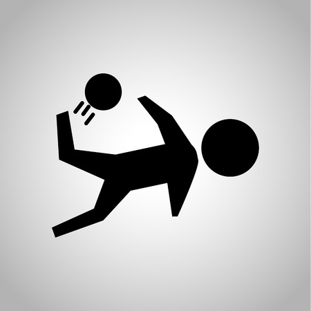 Football hit icon Фото со стока - 51648578