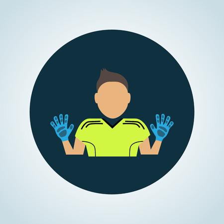 arquero: Color del icono portero de f�tbol