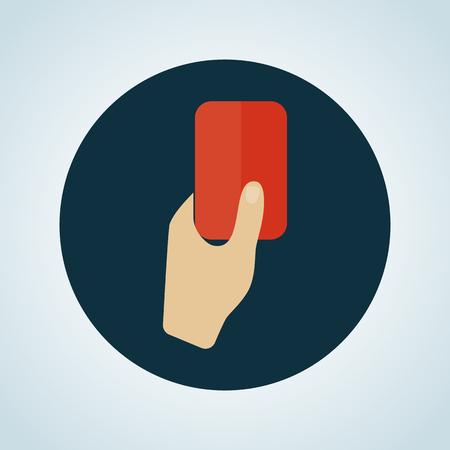 Illustratie van de rode kaart icoon Vector Illustratie