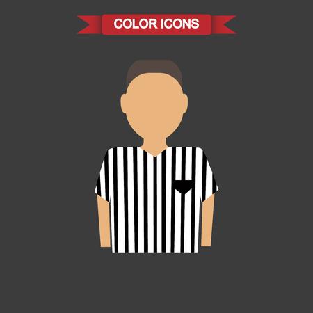 arbitro: Color de �rbitro de f�tbol icono