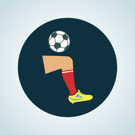 gaiters: Color football player kick icon
