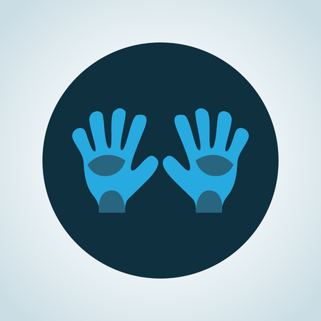 goalkeeper: Color illustration of goalkeeper gloves Illustration