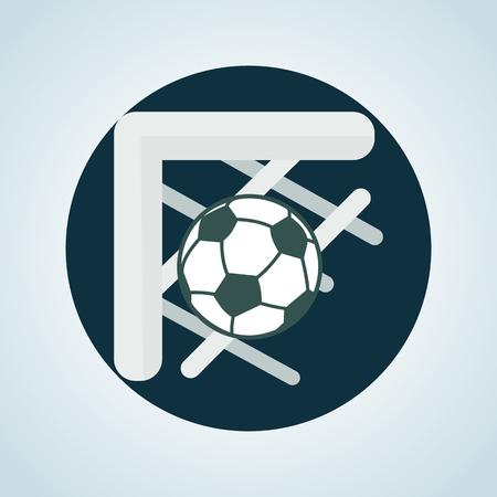 Color illustration of football goal