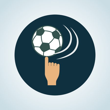 twisting: Color twisting the football ball on the finger icon