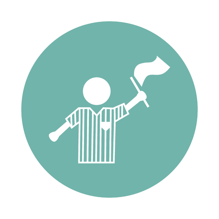 referee: Fotball referee icon Illustration
