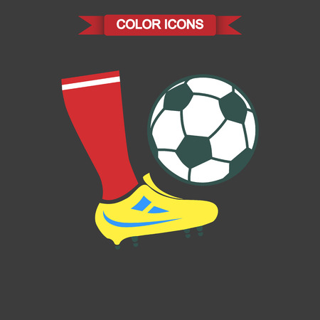 football kick: Color illustration of football kick