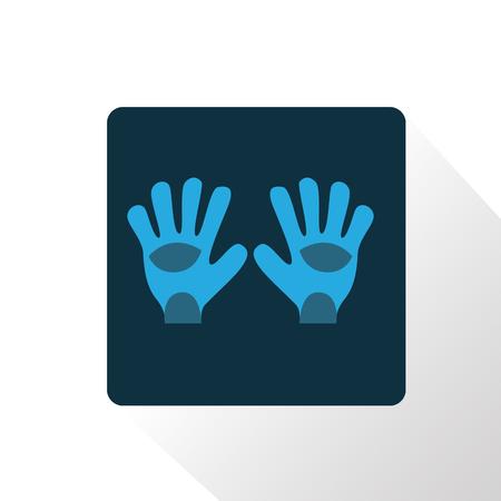 arquero: Ilustraci�n de color de los guantes de portero