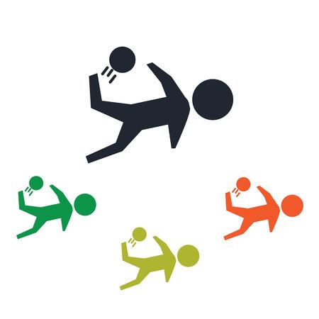 Football hit icon Фото со стока - 51668053