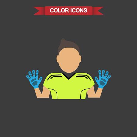 goalkeeper: Color football goalkeeper icon