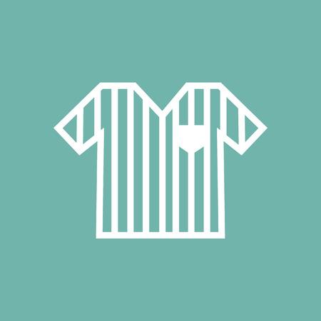 arbitro: icono de la camisa del �rbitro