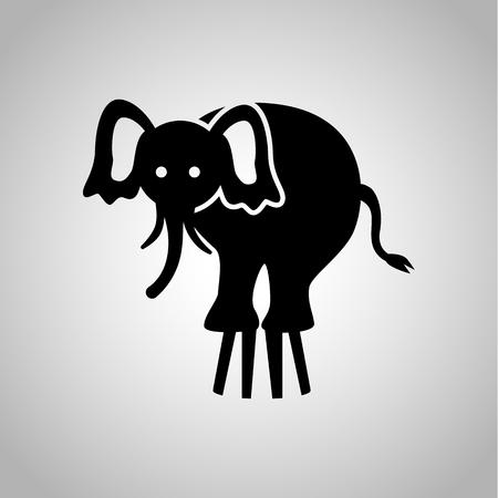 elephant icon: Circus elephant icon