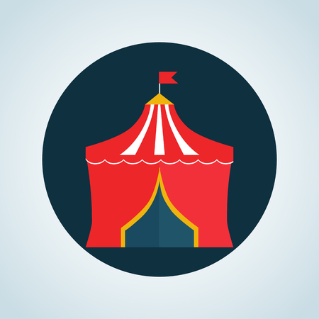 dome: Color circus dome icon Illustration