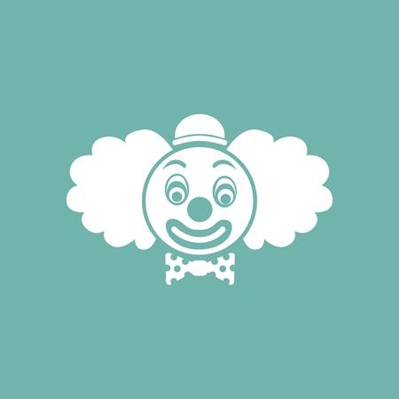 stage makeup: Clown icon Illustration