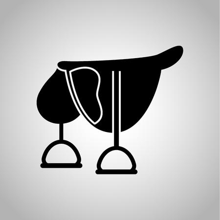 saddle: Horse saddle icon