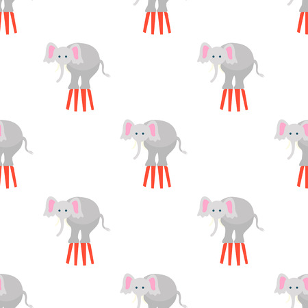 circus elephant: Color circus elephant icon