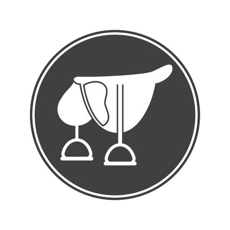 stirrup: Horse saddle icon