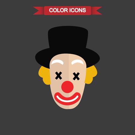 Color clone face icon Illustration