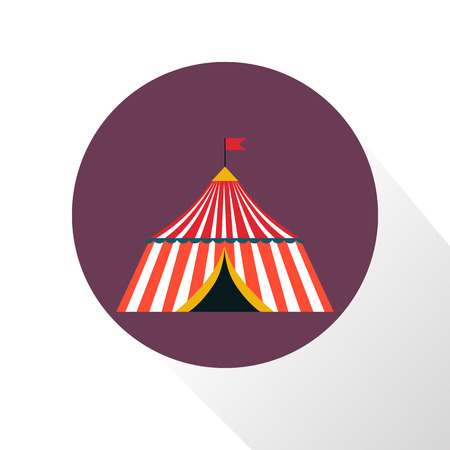 dome: Color circus dome icon Illustration
