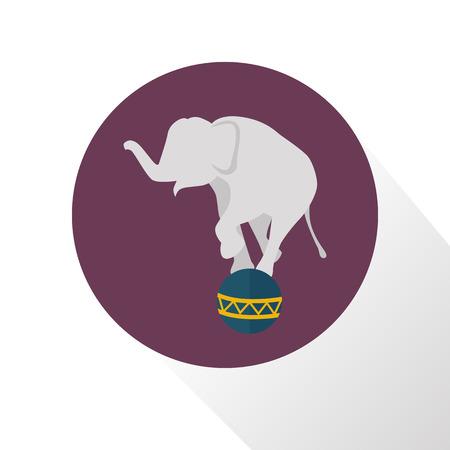 balance ball: Elephant balance on the ball icon