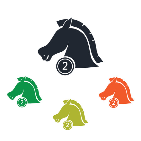to place: Second place horse in a ride icon
