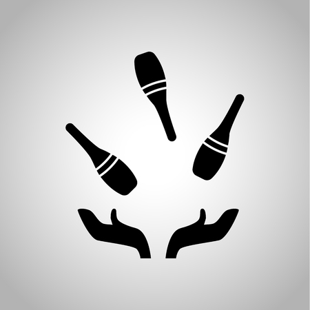 actors: Bowling junggling icon Illustration