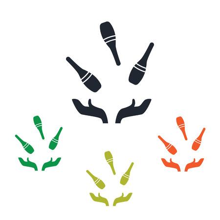juggling: Bowling junggling icon Illustration