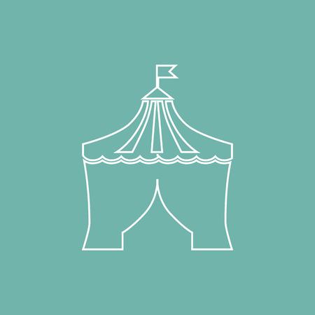 dome: Circus dome icon Illustration