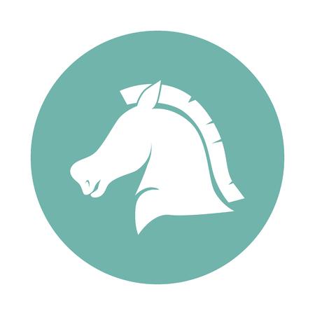 muzzle: Horse muzzle in profile icon