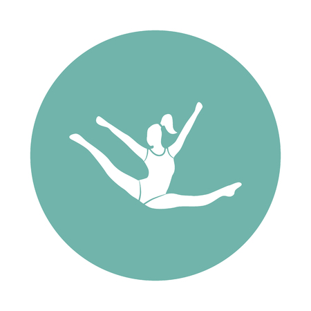 stage costume: Circus gymnast icon Illustration