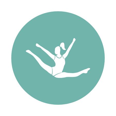 Circus gymnast icon Illustration